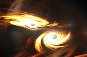 Уникальное космическое явление – столкновение черных дыр 2