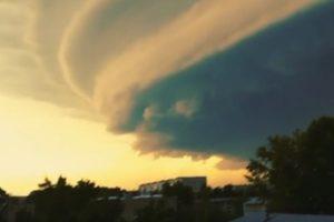 Вечный шторм «Гектор» вид из космоса 2